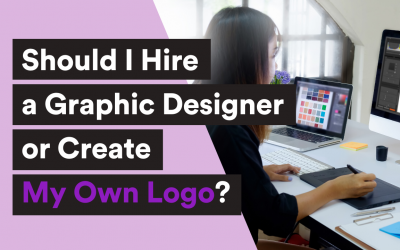 Should I hire a graphic designer or create my own logo?